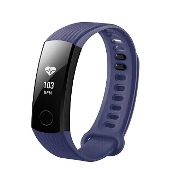 JiaMeng Banda de la Correa de la Pulsera del silicón Deportes de la Manera para el Reloj Elegante de Huawei Honor 3(Azul Marino): Amazon.es: Ropa y ...