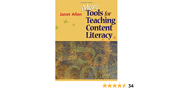 More Tools For Teaching Content Literacy Allen Janet 9781571107718 Books Amazon Ca