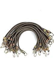 XSTRAP 10-Inch Mini Bungee Cords 20 Pieces Steel Hooks