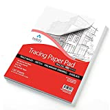 Bellofy Tracing Paper Pad 100 Sheets – Translucent Tracing Paper for Pencil, Marker and Ink - Trace Images, Sketch, Preliminary Drawing, Overlays – 9 x 12 inches, 25 lB / 41 GSM