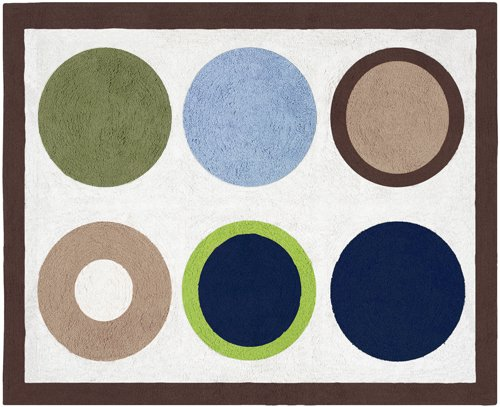 Dot Modern Rug - Designer Dot Modern Accent Floor Rug by Sweet Jojo Designs