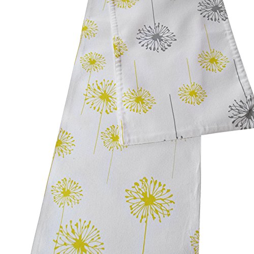 (Crabtree Collection The Double Sided Table Runner - (12 x 90, Yellow & Grey/Yellow)