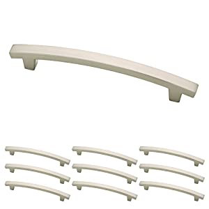 Franklin Brass P29616K-SN-B Satin Nickel 5-Inch Pierce Kitchen or Furniture Cabinet Hardware Drawer Handle Pull, 10 pack