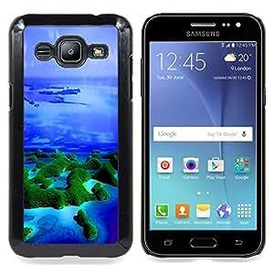 """Qstar Arte & diseño plástico duro Fundas Cover Cubre Hard Case Cover para Samsung Galaxy J2 / J200 (Islas Trópicos Naturaleza Océano Azul Mar"""")"""