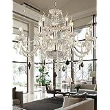 Chandelier Crystal Luxury Modern 2 Tiers Living 12 Lights , 110-120v