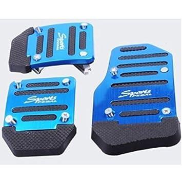 AUCH 1set útil/práctica/Nuevo coche automático anti-slippery pedales para acelerador embrague freno, color azul: Amazon.es: Coche y moto