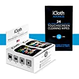iCloth Combo Cleaning Wipe Pack 24 Large Screen | 100 Regular Size Screen and Mulit-Surface Cleaning Wipes for use in LCD LED OLED TV Screens, Smartphones, Windows, Windscreen and Others
