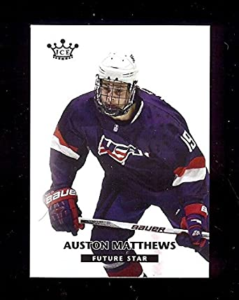 AUSTON MATTHEWS 2015 USA Hockey Zurich ZSC Lions Swiss League Rookie Card  RC at Amazon s Sports Collectibles Store 319c0c4c073