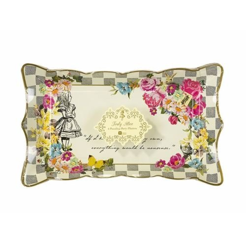 Talking Tables Alice In Wonderland Party Supplies | Paper Serving Platter | Great For Mad Hatter Tea Party, Birthday Party And Baby Shower | 4 Count ()