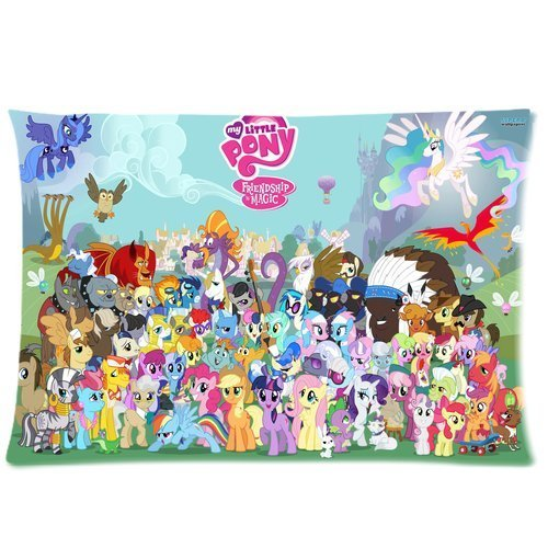Cartoon My Little Pony Rectangle Pillow Cases Custom Pillowcase Standard Size Design Cotton Pillow Case 20x30 (one side) Friendship is Magic Children/kids Favorite