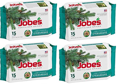 Jobes 01611 15 Pack Evergreen Tree Fertilizer Spikes - Quantity 4 Packages