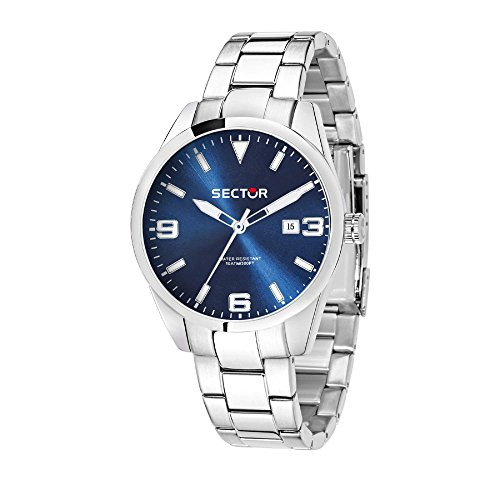 SECTOR Men's '245' Quartz Stainless Steel Casual Watch, Color Silver-Toned (Model: R3253486007)