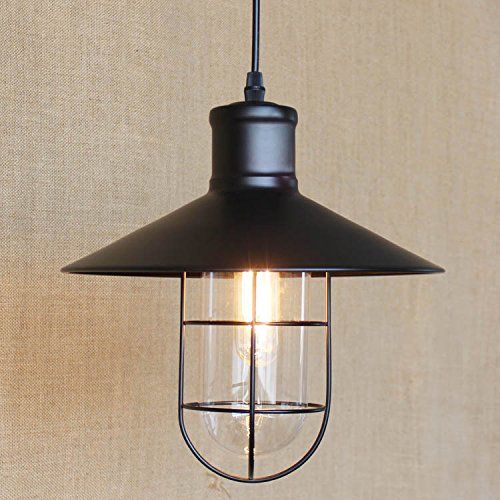 Kiven Industrial Metal Cage pendant light Edison bulb