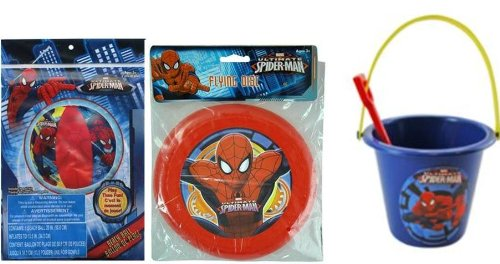 Spiderman 20'' Beach Ball + Frisbee + Sand Bucket and Shovel Set by Spider-Man (Image #1)