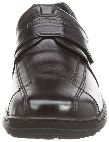 Hush Puppies Grounds Velcro, Men's Low-Top Sneakers Black (Black Napoli Leather)