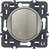 Legrand Celiane LEG99785 Interrupteur variateur 300 W Titane à composer