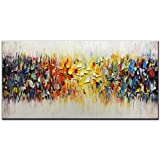 Amei Art Paintings,24x48inch 3D Hand-Painted On Canvas Abstract Colorful Melody Oil Painting...