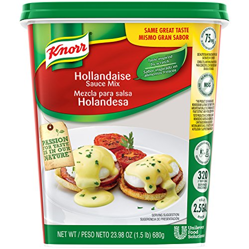 Eggs Hollandaise Sauce - Knorr Sauce Mix Hollandaise 1.5 lbs, Pack of 4