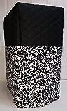 Black & White Floral Damask Blender Cover (Large, Black)