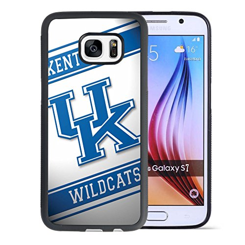Samsung Galaxy S7 Drop Protection Case, Onelee NCAA Series Case for Samsung Galaxy S7, Kentucky Wildcats Samsung S7 Case / Black Soft Rubber [Never fade][Anti Slip][Scratchproof]