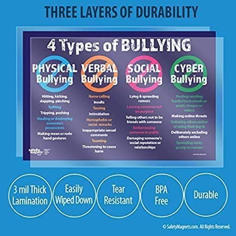 Amazon.com: Bullying el 4 tipos: Física, Verbal, Social y ...