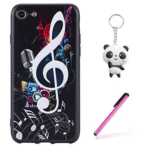 iPhone 8 Hülle 3D Musik Note Premium Handy Tasche Schutz Schale Für Apple iPhone 8 + Zwei Geschenk