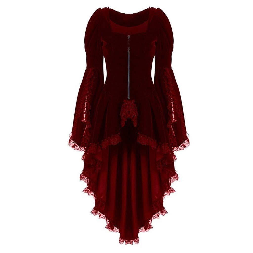 Smoking Abbigliamento Vintage da Donna in Pizzo per Halloween Mini Abito retr/ò per Cosplay 2019 Moda UK Over Coat Plus Taglia 40-56 a Maniche Lunghe Festa di Natale Giacca