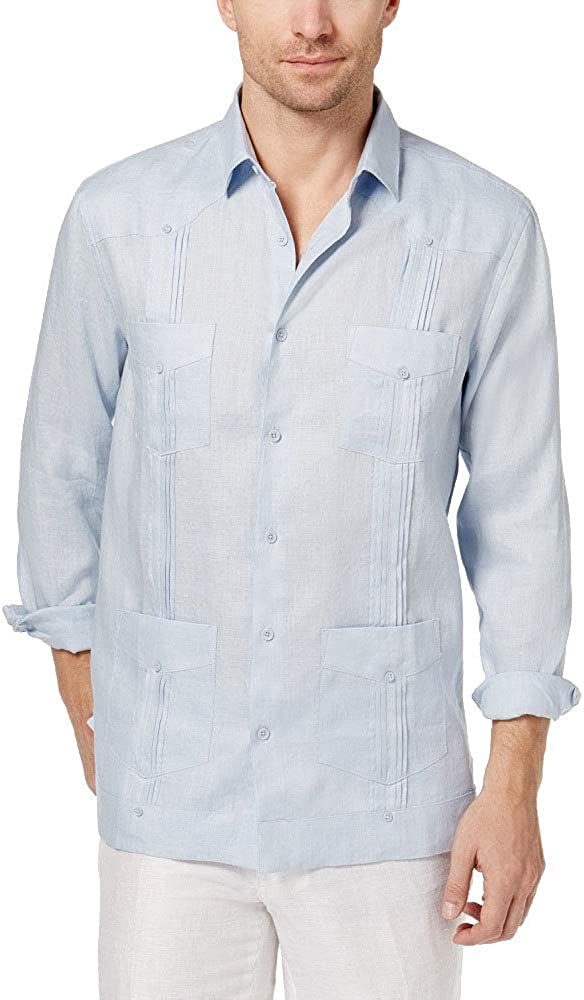Tasso Elba Men's Guayabera Linen Austin Mall Shirt Sales results No. 1