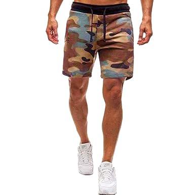 FRAUIT Pantalones Cortos Deportivos Casual para Hombre ...