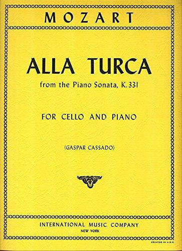 Read Online MOZART - Alla Turca de la Sonata (K.331) para Violoncello y Piano (Cassado) pdf epub