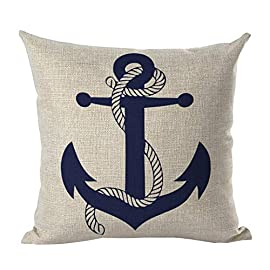 Pillows offer a great way to bring that Nautical  flair to any room