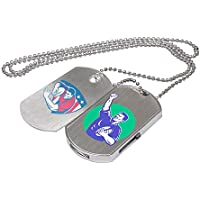 Custom Logo USB Flash Drive Dog Tag Necklace Metal Pendrive Memory Stick 50 Bulk Pack (4GB)