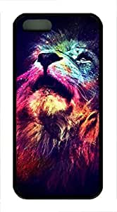 iPhone 5 5S Case Abstract Lion TPU Custom iPhone 5 5S Case Cover Black