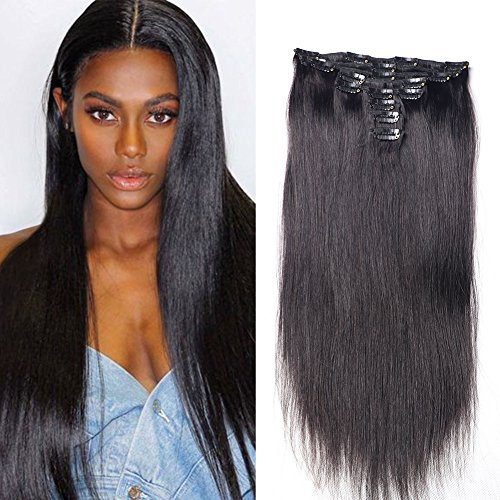 Clip in Hair Extensions Cheap Straight Full Head Hair Extens