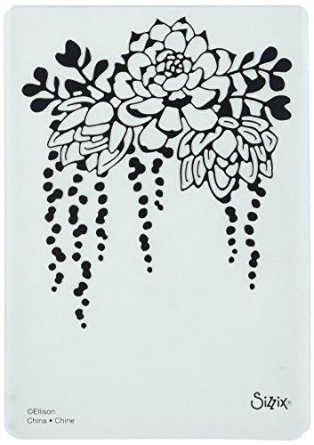 Sizzix Impressions Embossing Folder 661934 Textured, Elegant Succulents
