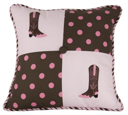 HiEnd Accents Western Polka Dot Boot Pillow