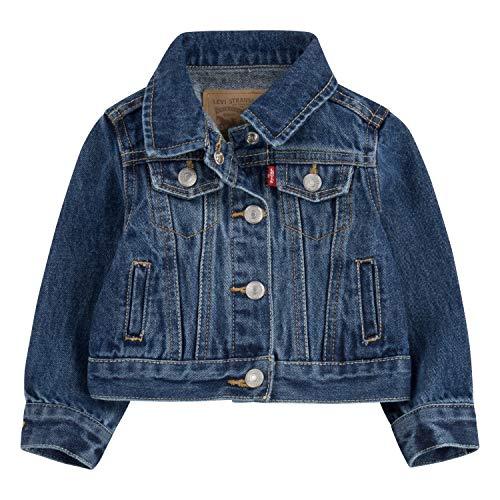 Levi's Baby Girls Denim Trucker Jacket, Bristol, 6M (Blue Jeans Jacket Girls)