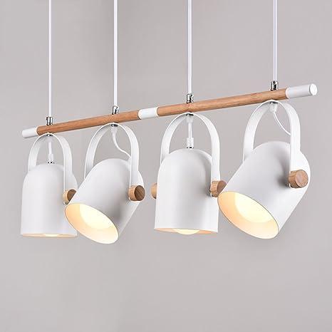 Modern Deckenlampe Holz Pendelleuchte Hängende Beleuchtung Holz Und Metall Streifen Decke Kronleuchter Büro Esstisch Arbeitszimmer Pendel Lampe