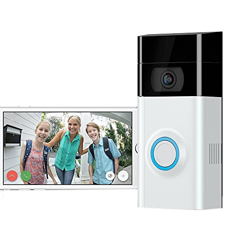 HD 720P Camera Wi-Fi Video Smart Doorbell Camera Security System with Motion Sensor and Smartphone Monitoring Infrared Night Vision Two-Way Audio