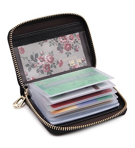 best sneakers f7cfa e6e20 SafeCard Women's Credit Card Case Wallet 2 ID Window and Zipper Card Holder  Purse