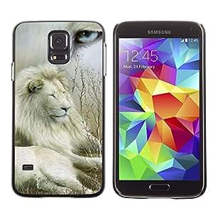 Stuss Case / Funda Carcasa protectora - Lion Collage Nature White Eye King Africa - Samsung Galaxy S5 SM-G900