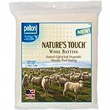 """Pellon W-45 Crib Size Wool Batting, 45"""" by 60"""", White"""