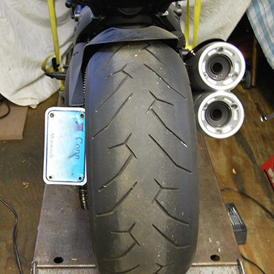 Ducati Diavel 2 Position License Plate - New Rage Cycles