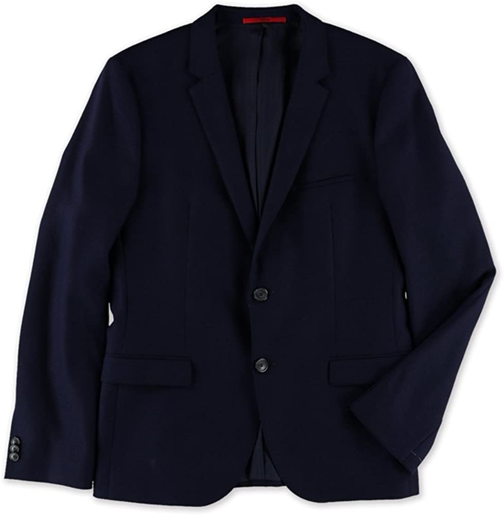 Hugo Boss Mens Solid Textured Two Button Blazer Jacket, Blue, 40 Regular 51igbbc6w4LUL1001_