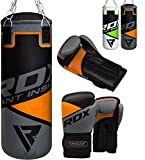 RDX Kids Punch Bag Filled Set Junior Kick Boxing 2FT Heavy MMA Training Youth Gloves Punching Mitts Muay Thai Martial Arts