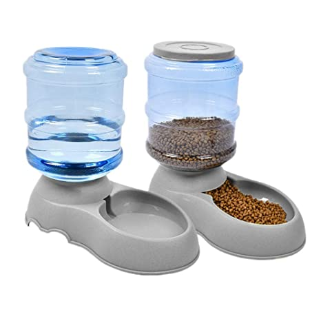 Dispensador de Alimentos y de Agua para Perro/Gato 3.8L, dispensador de croqueta