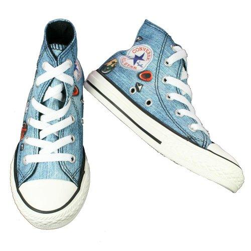 Converse Ctas Print Hi 366360-31-5 - Zapatillas de tela para unisex-niño, color azul, talla 27 azul - azul