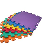 TLCmat Soft Puzzle Foam Play Mat - SGS, TUV, Reach Safety Tested - Non-Toxic, Odorless (6pcs, 12pcs or 18pcs Pack) (Vivid 12pcs Pack)