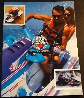 1994 POLARIS INDUSTRIES SNOWMOBILE WATERCRAFT ATV ANNUAL REPORT BROCHURE (817) (Polaris Industries Snowmobiles)