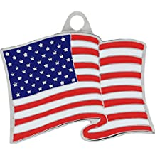 American Flag Keychain USA Flag Key Ring Patriotic Gifts